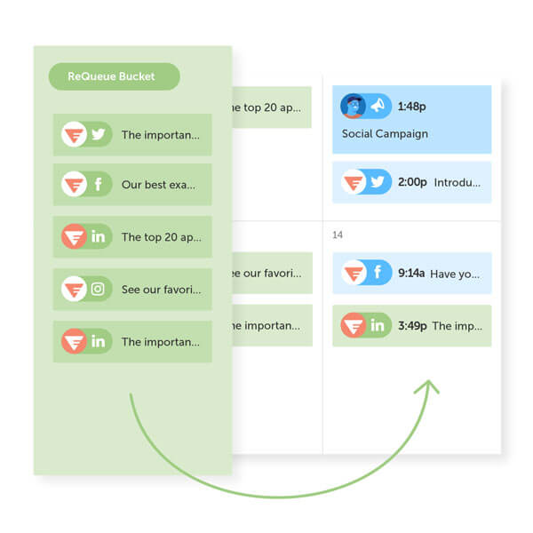 Fill the gaps of your social schedule with ReQueue: Social Automation by CoSchedule.