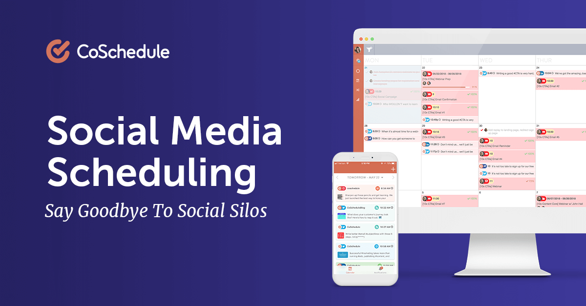 Social Media Scheduling From CoSchedule - @CoSchedule