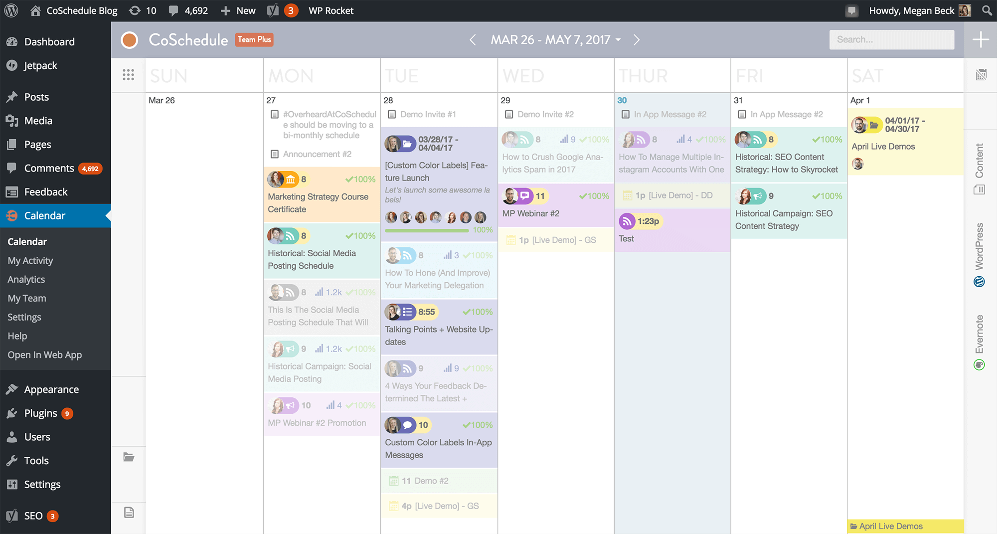 CoSchedule Calendar View