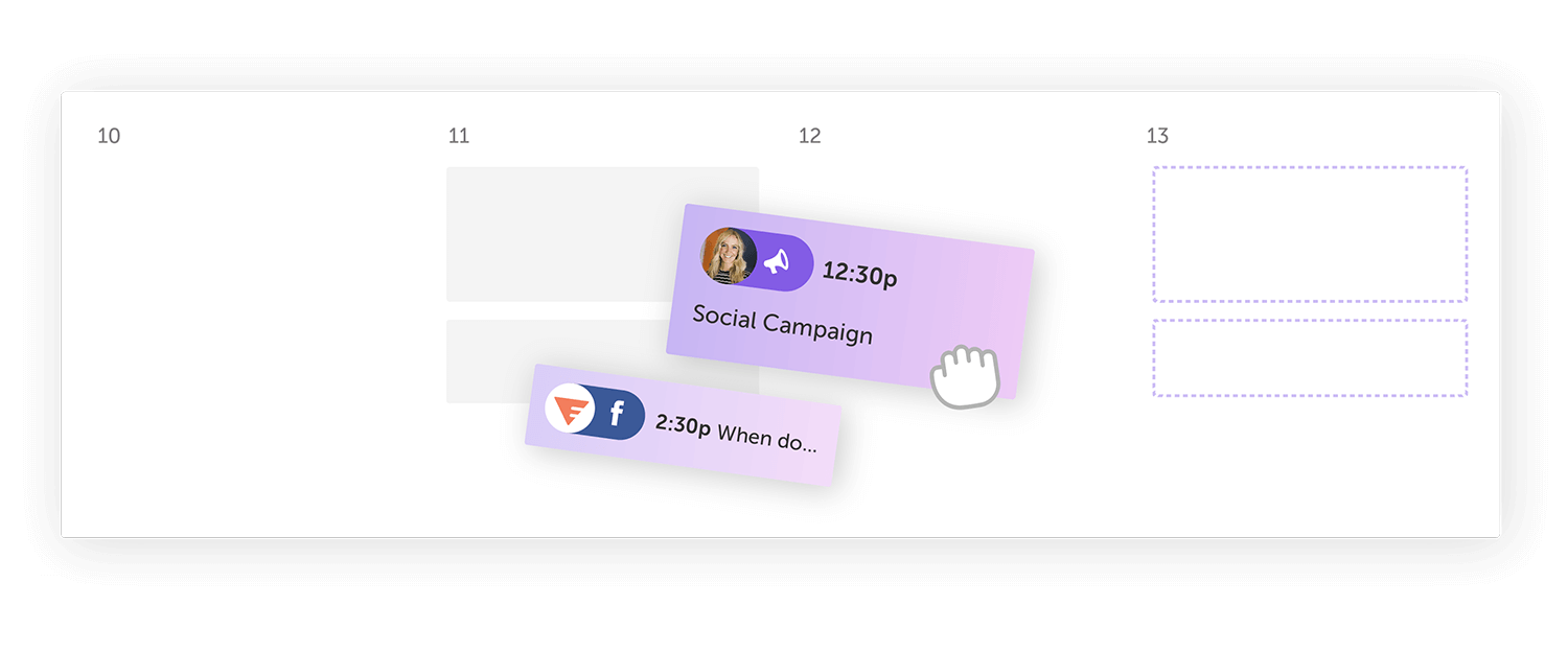 Drag and Drop Scheduling Marketing Calendar by CoSchedule